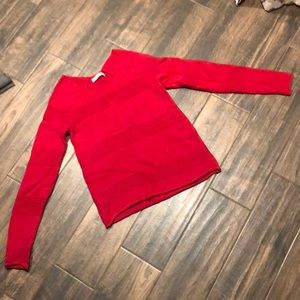 Old Navy Crew Neck Red Striped Sweater